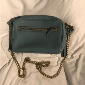 Light blue coach purse